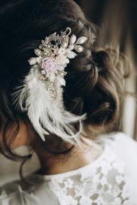 Braut Haarschmuck weiß