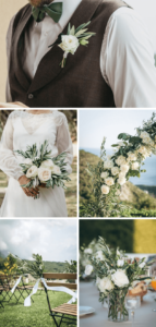 Hochzeitsdeko weiß und grün