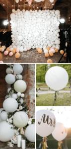 Hochzeitsdeko weiß Ballons