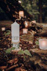 Hochzeitskerze Waldhochzeit