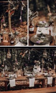 Waldhochzeit Tischdeko Boho