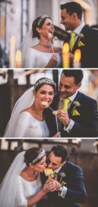 Brautpaar Accessoires gelb