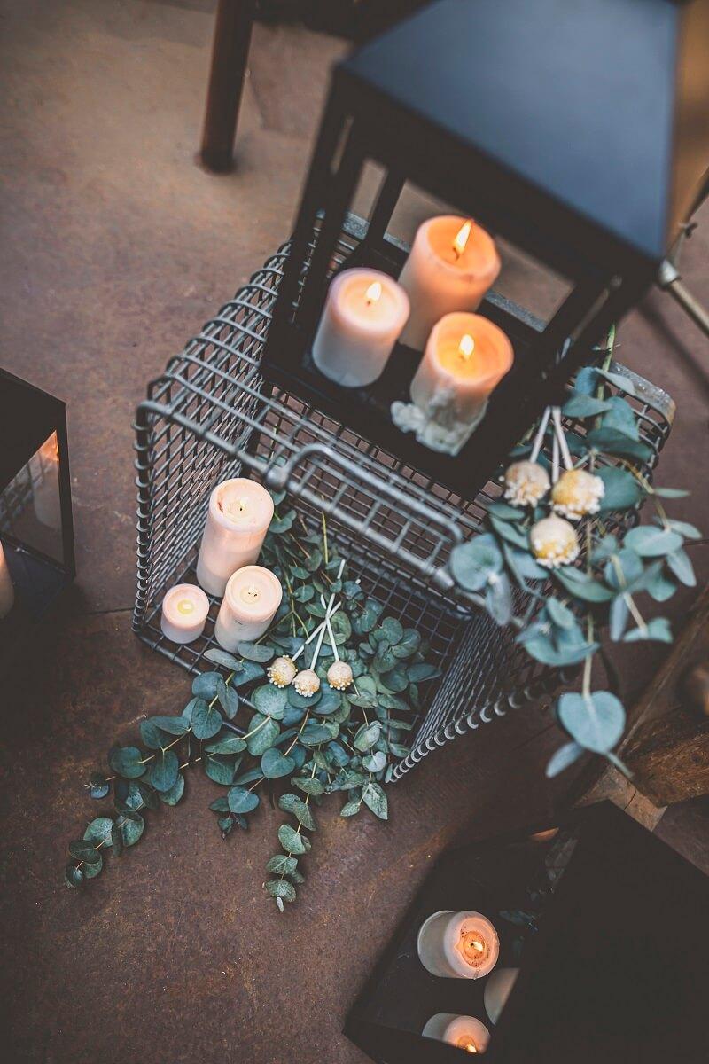 Hochzeitsdeko minimalistisch