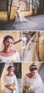 Brautstyling puristisch elegant