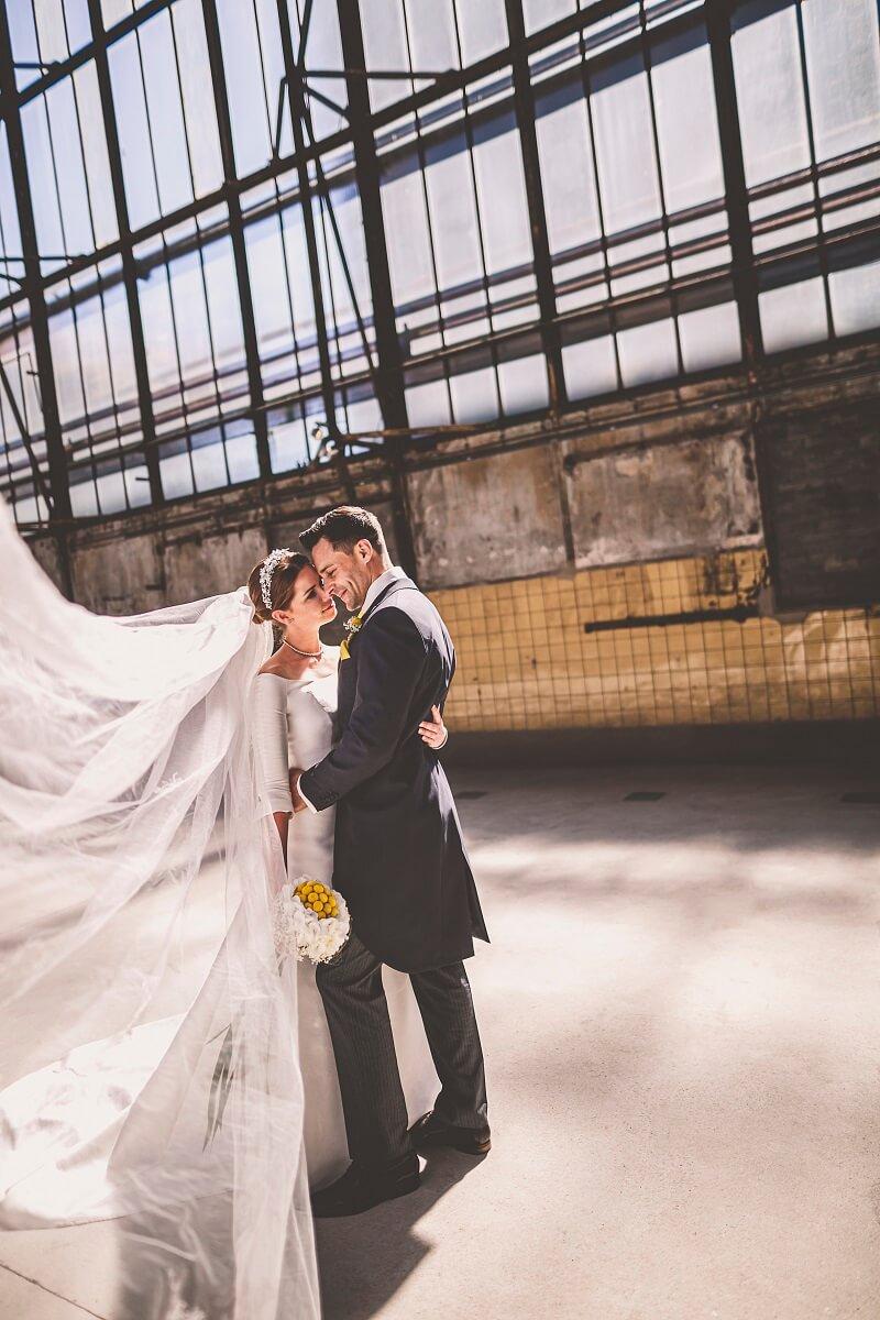 Brautpaarshooting Fabrik
