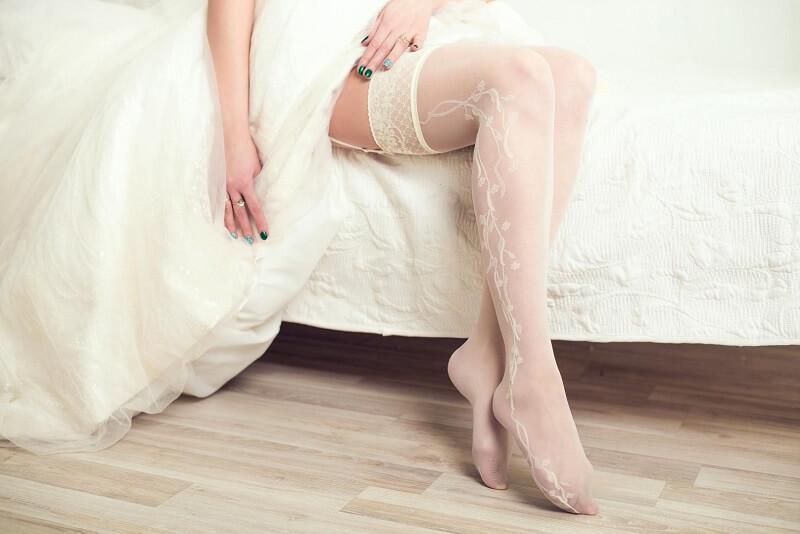Hochzeit Braut Strümpfe