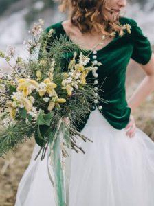 Braut Accessoires grün