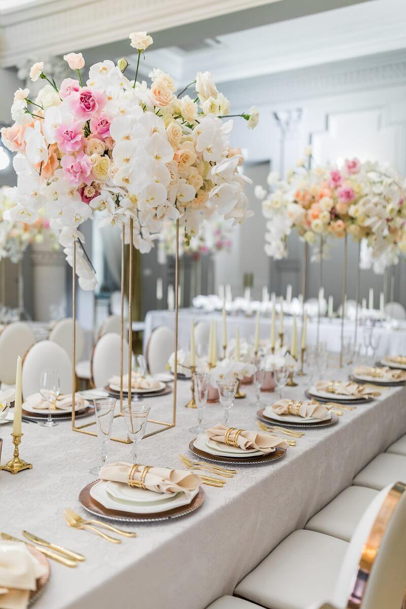 Hochzeit Tischdeko mit Orchideen