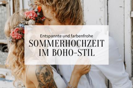 Lockere Boho Sommerhochzeit