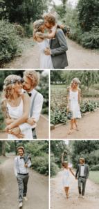 Boho Brautpaar Hochzeitsfotos Ideen