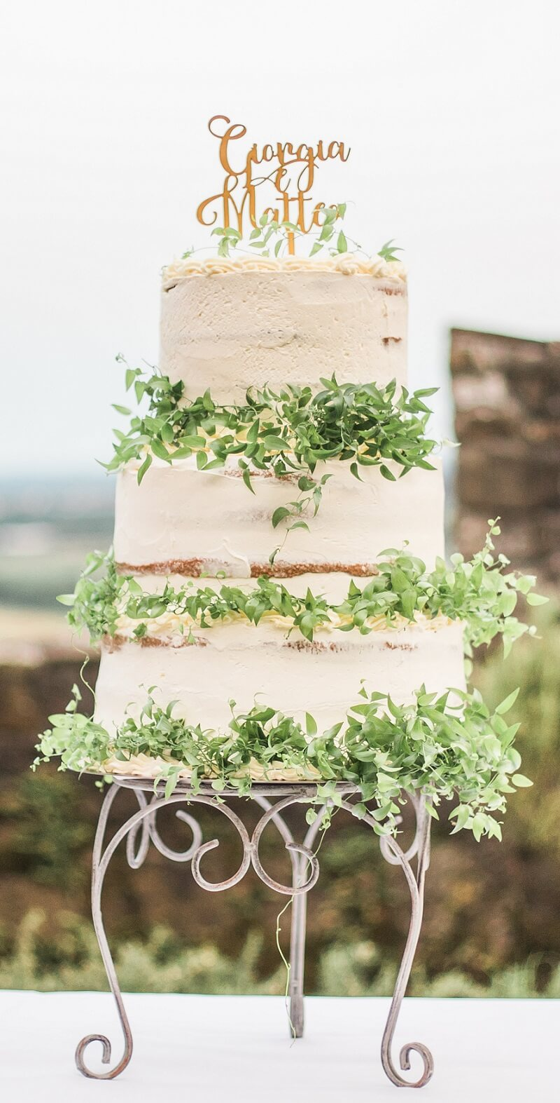 Naked Cake Vintage Hochzeitstorte