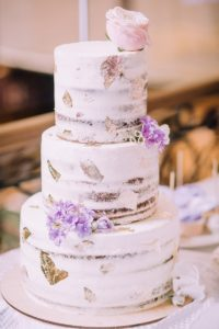 Naked Cake mit Blattgold