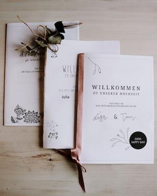 Willkommensheft zur Hochzeit