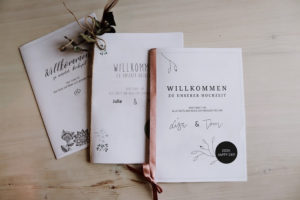 Willkommensheft Hochzeit