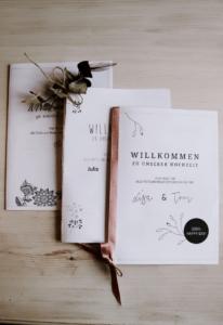 Willkommensheft Hochzeit Vorlage