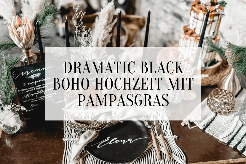 Dramatic Black Boho Hochzeit