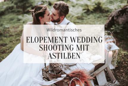 Elopement Hochzeit in Rosa und Weiß mit Astilben