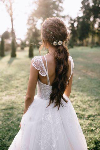 Brautfrisur mit Zopf