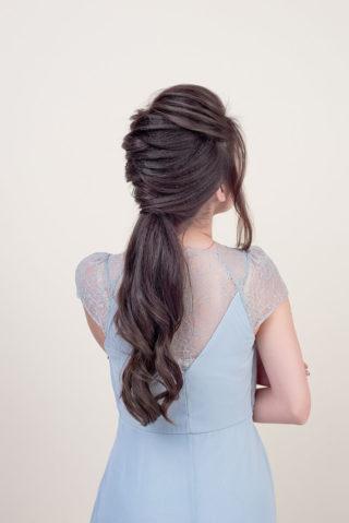 Frisur Braut mit Zopf