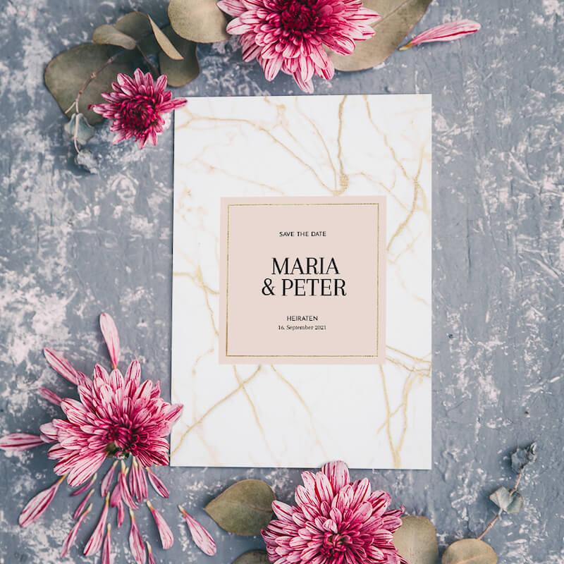 Einladungskarten modern elegant