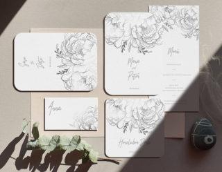 Hochzeitseinladung floral elegant
