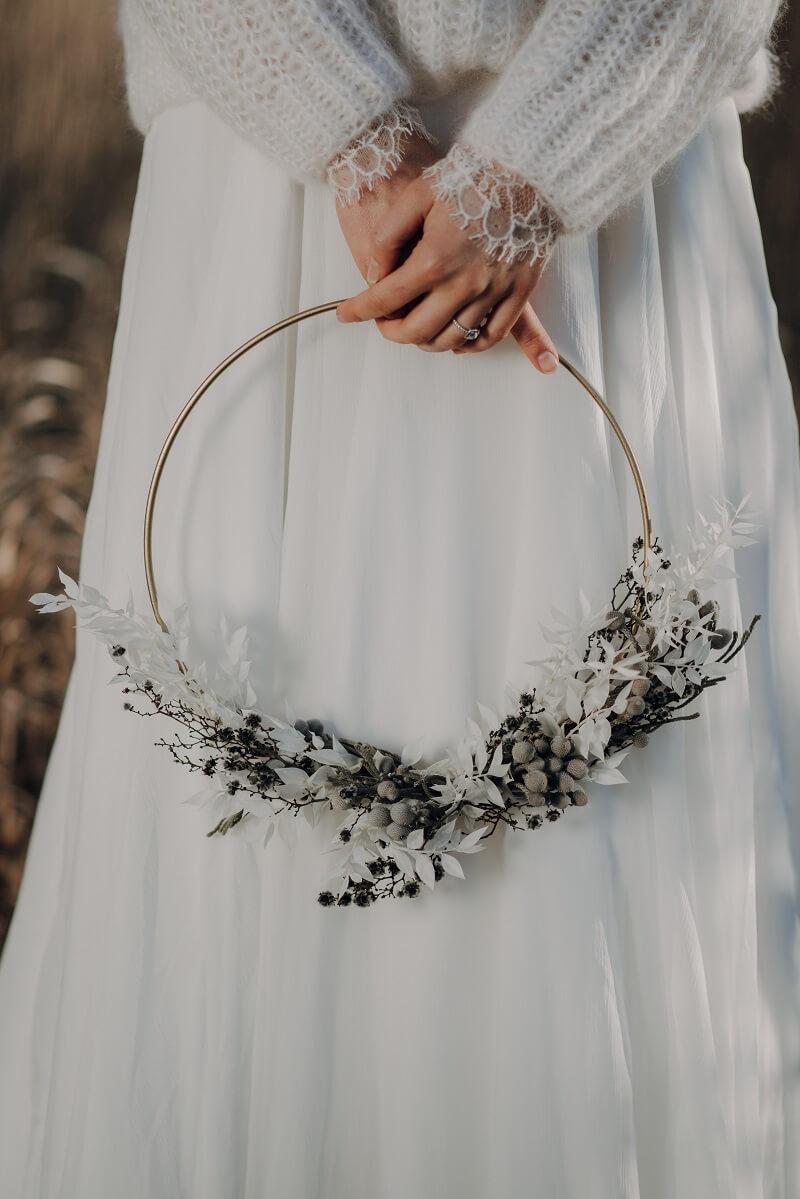 Brautstrauß Reifen, Foto: Claudia Weaver, Florist: Bindestelle Meisterfloristik