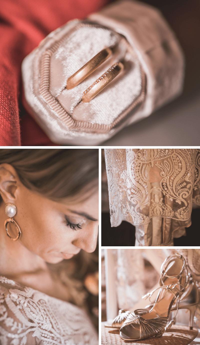 Braut Accessoires elegant in Gold