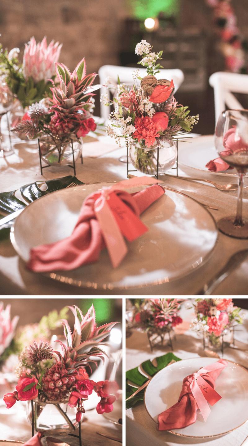 Sommerparty Hochzeit Tischdeko