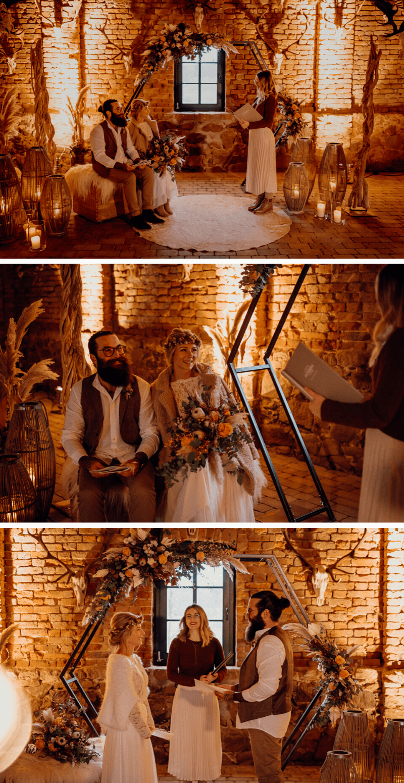 Boho meets Rustic Hochzeit Scheune