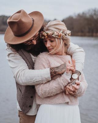 Boho Hochzeit Winter