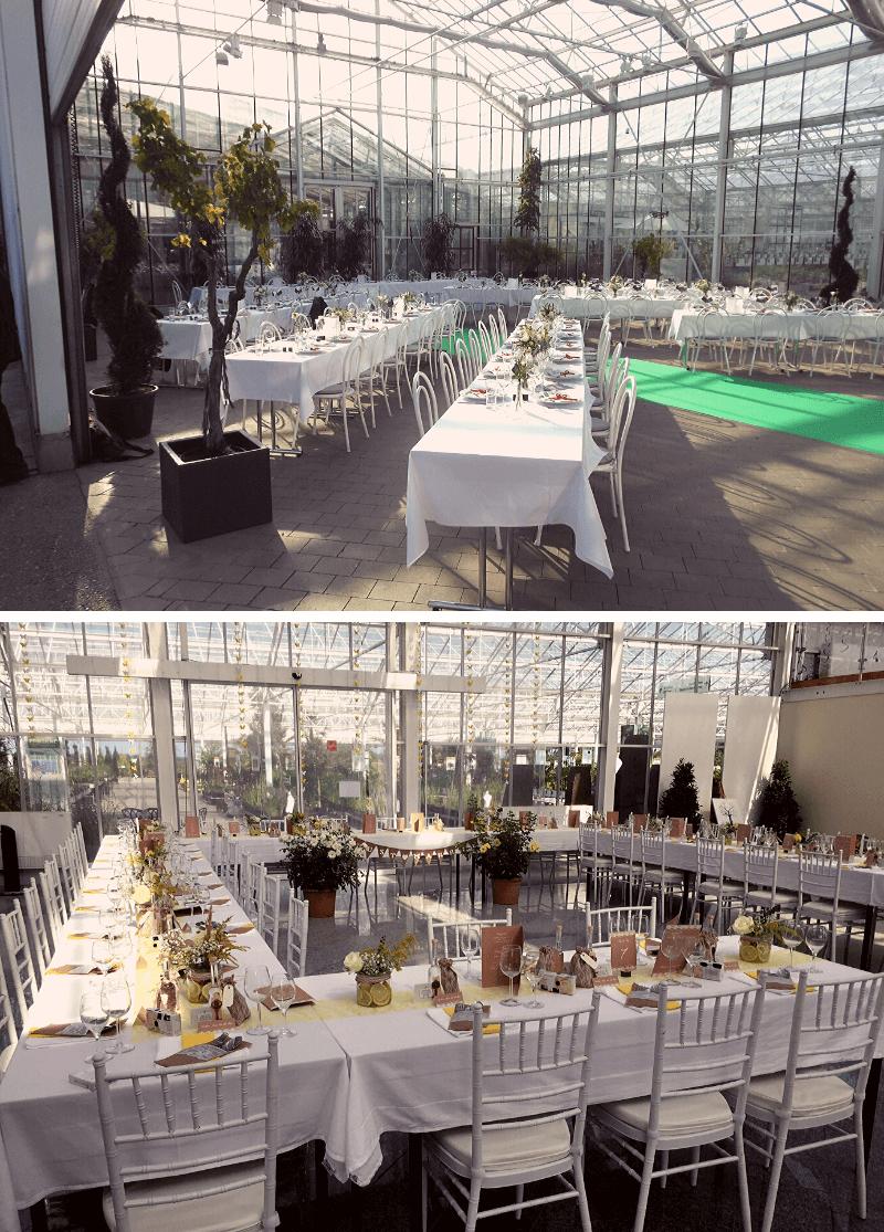 Hochzeit Glashaus Praskac, Hochzeitslocation ohne Catering