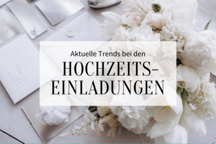 Trends Hochzeitseinladungen