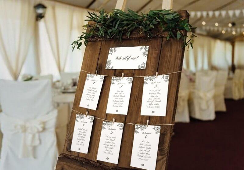 Sitzordnung Hochzeit Vorlage Tischordnung 5