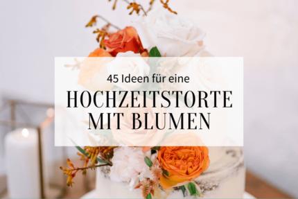 Hochzeitstorte mit Blumen Deko