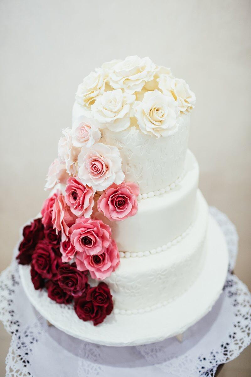 Hochzeitstorte Ombre mit Blumen, Ombre Wedding