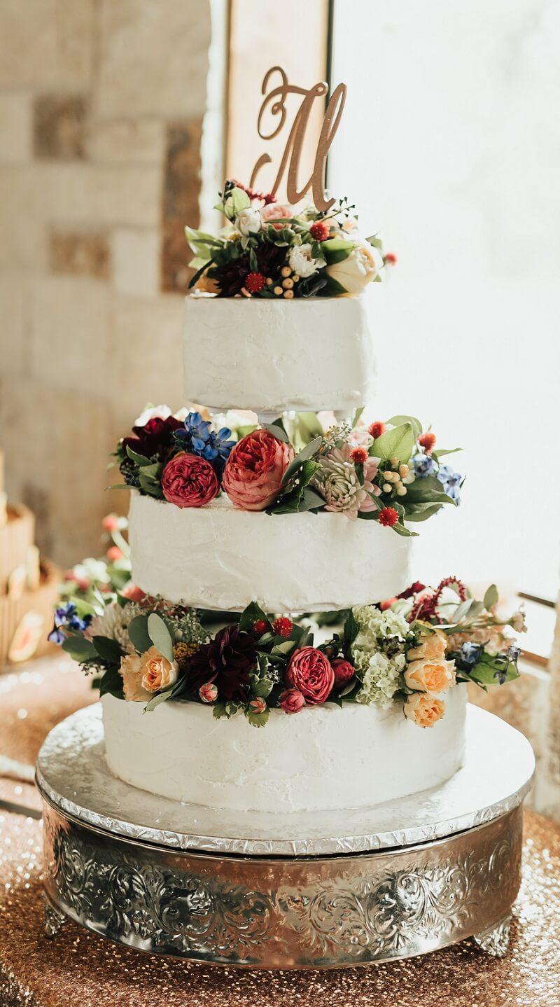 Hochzeitstorte Blumendeko
