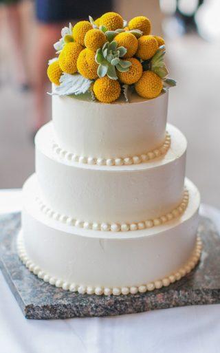 Hochzeitstorte Blumen Cake Topper gelb