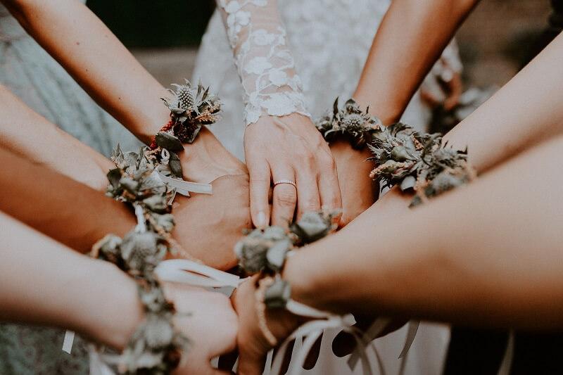Brautjungfern Blumen