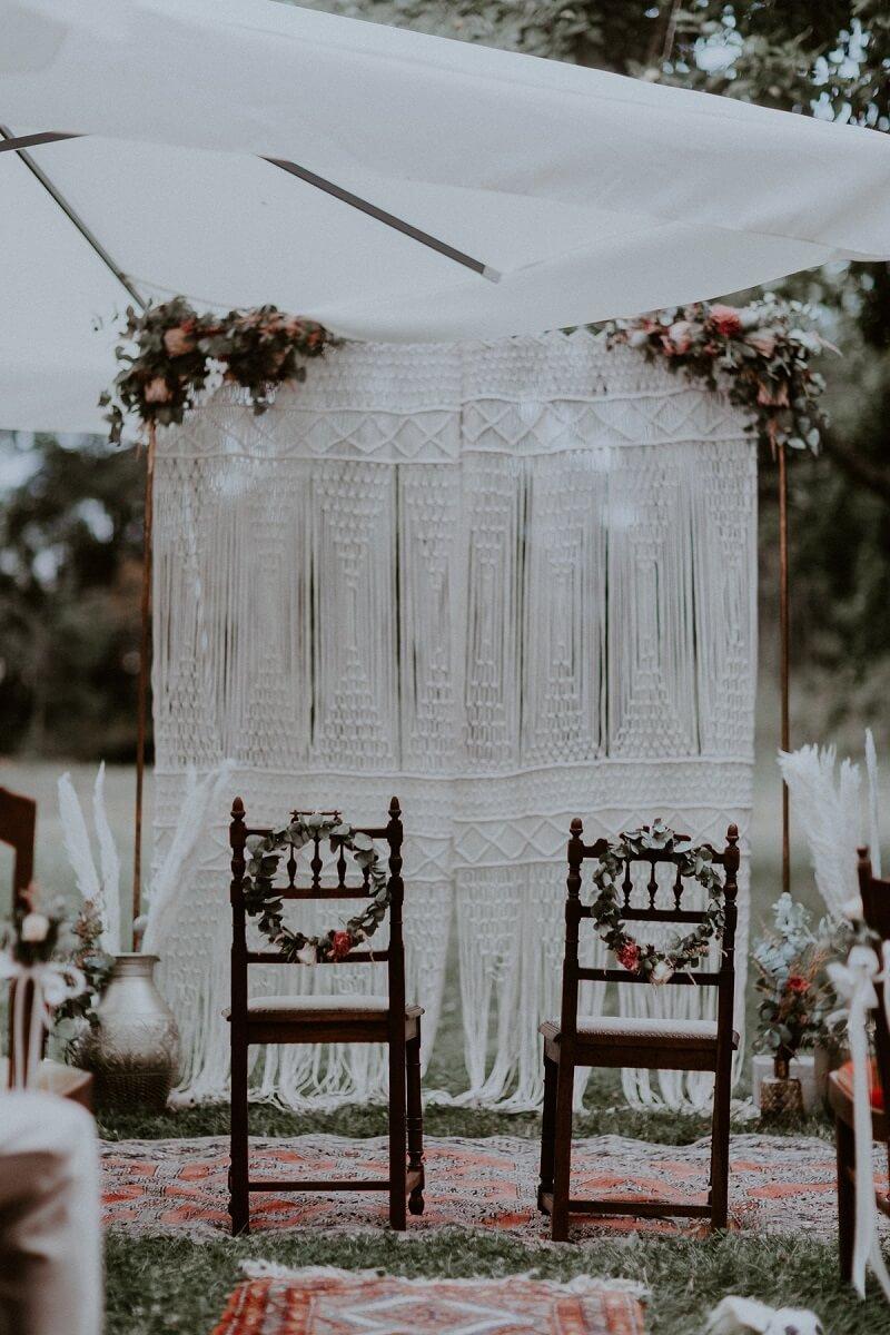 Hochzeitsbogen Makramee