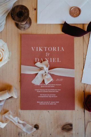 Hochzeitseinladung in Rot