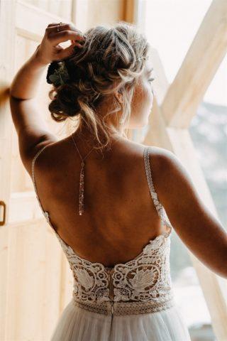 Braut Rückenkette
