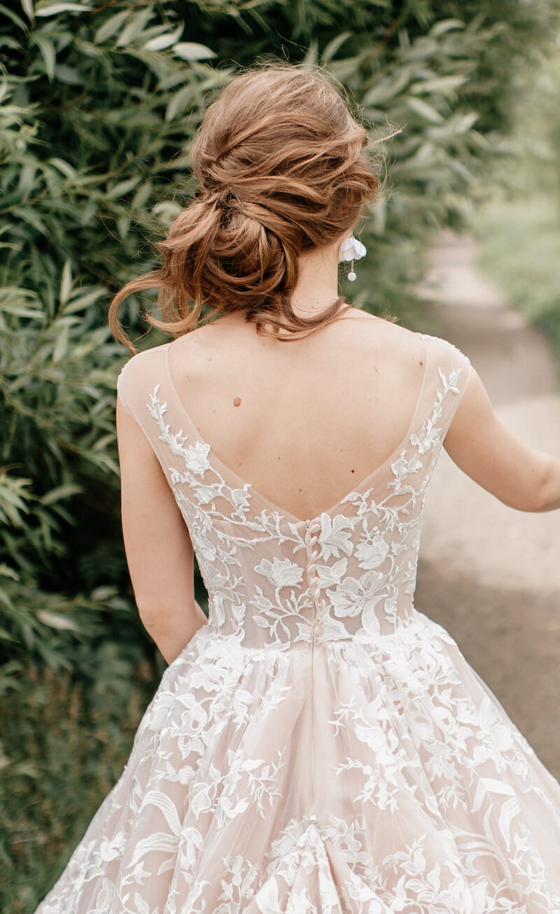 Braut Hochsteckfrisur seitlich