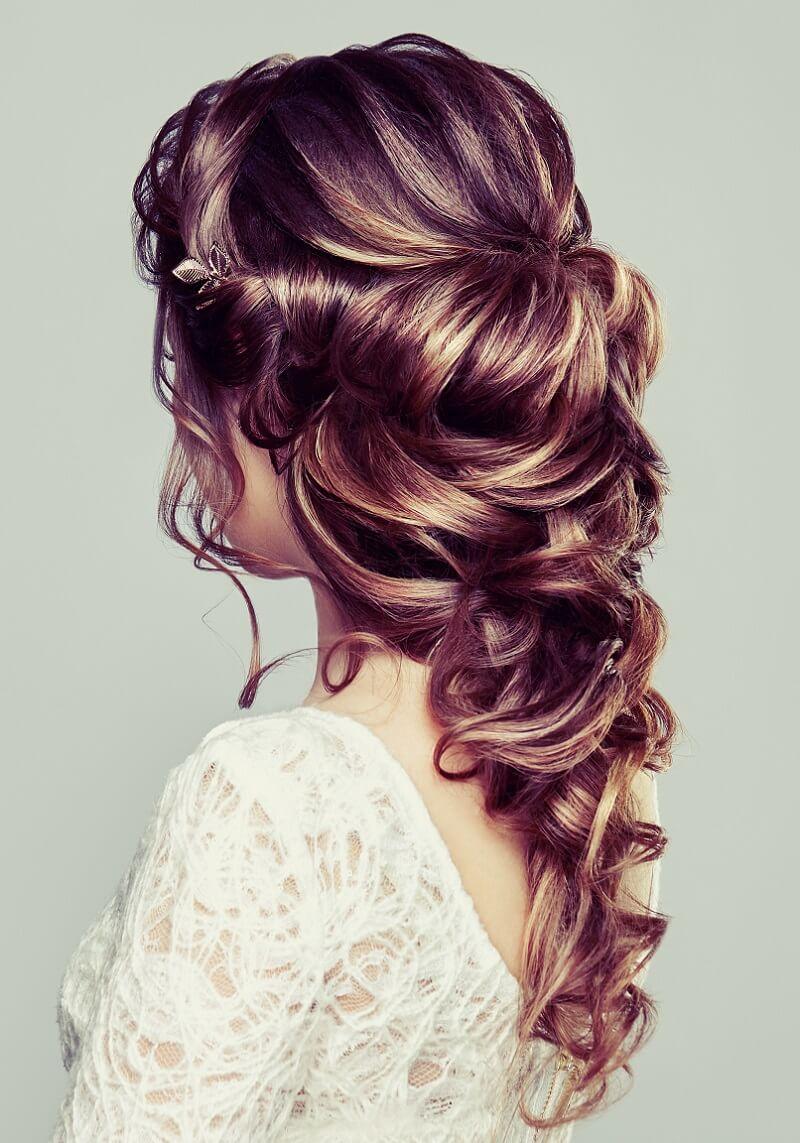 Brautfrisur halboffen für lange Haare – 10 Ideen - Hochzeitskiste