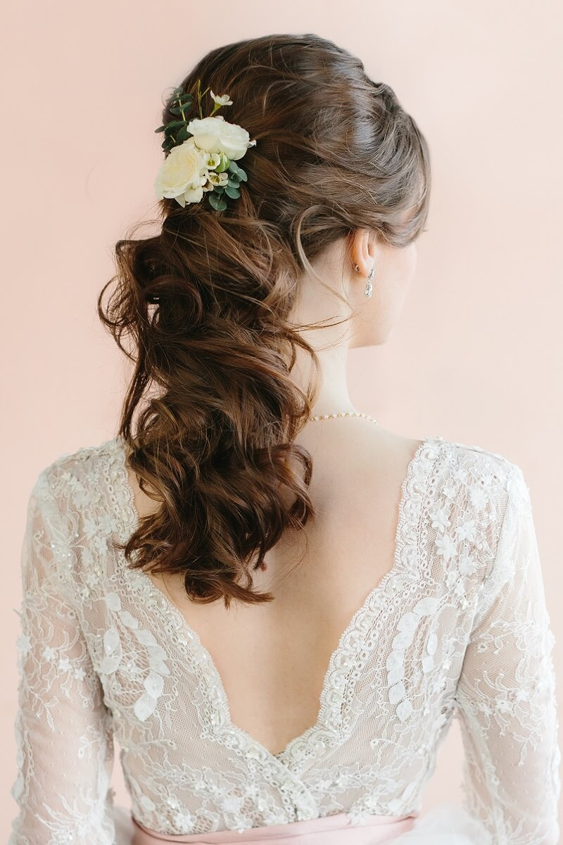Brautfrisur halboffen für lange Haare – 8 Ideen - Hochzeitskiste