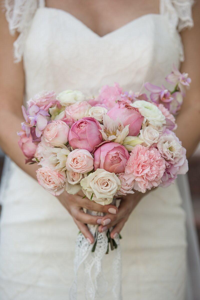 Brautstrauß Rosa mit Pfingstrosen