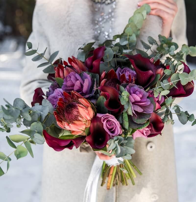 Brautstrauß für eine Winterhochzeit