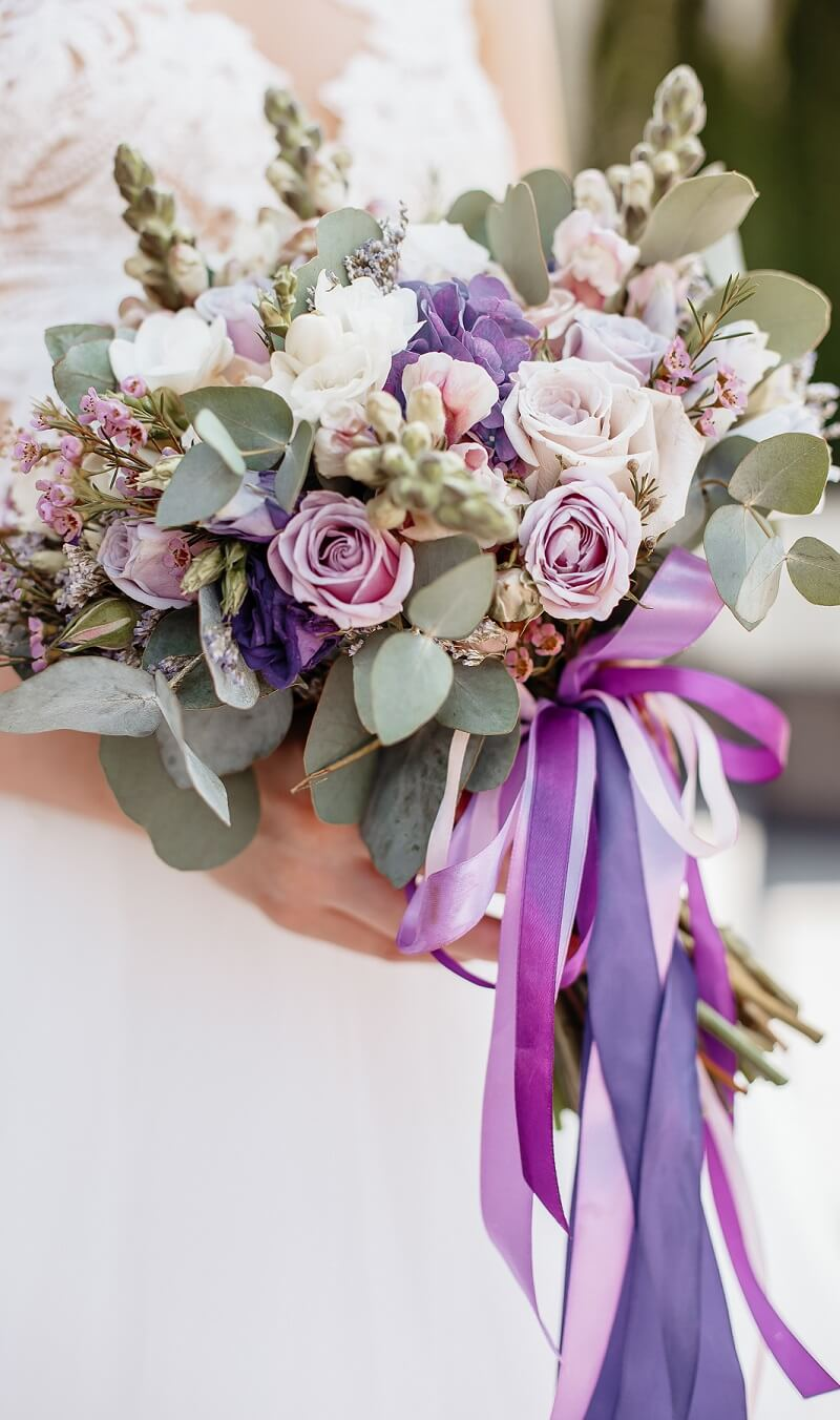 Brautstrauß in Lila