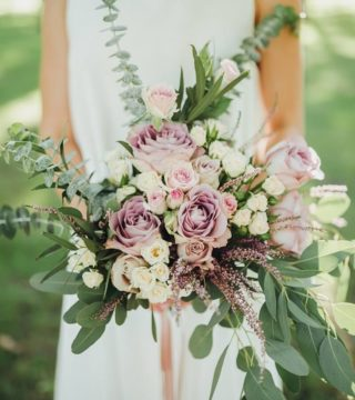 Brautstrauß lila flieder