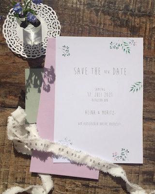 Change the Date Karten Hochzeit
