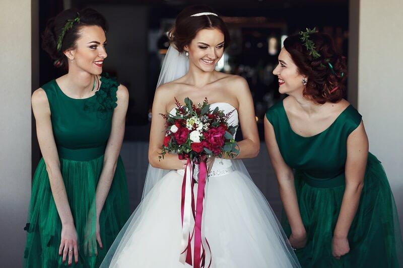 Brautjungfern Kleider Smaragdgrün